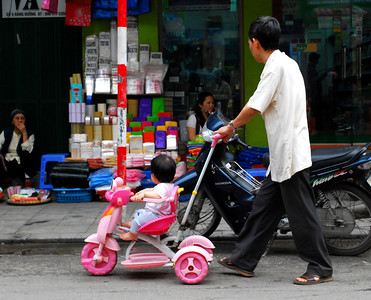 Obviously, to make the rounds in the Old Quarter, you have to have wheels - even pink ones.