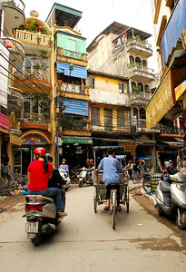 MARX IS PROBABLY SPINNING IN HIS GRAVE - Hanoi's Old Quarter has been a cauldron of commerce for nearly 400 years.  Every square inch throbs with centuries-rooted capitalism.