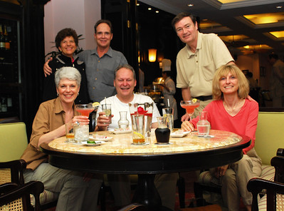Inside the Metropole, our merry group of travelers gathered for drinks in the elegant atmosphere of colonial Hanoi