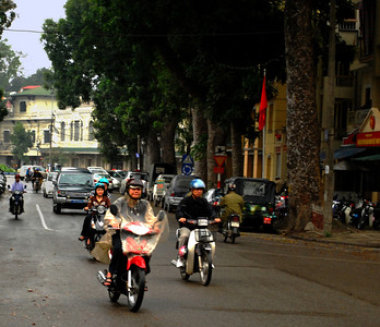 ...and all of Hanoi seemed in a mighty rush to turn the country's tumultuous 20th century into a prosperous 21st.  Nothing and no one seemed idle.