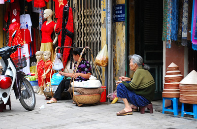 Some of the local vendors were content to sit and watch daily life - and the tourists - pass by....