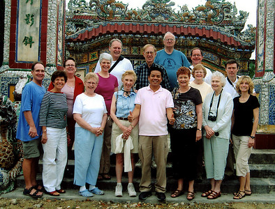 Among the 15 of us traveling together (16 counting our trip leader) there would be several familiar faces.  Our good friends Tom and Loretta would be joining us for their first OAT trip, while Pat and Joe along with Nancy, Jere and Eleanor, whom we had traveled with in Egypt, would also be part of our group.