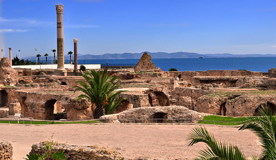 For 1500 years the city of Carthage dominated the Northern Africa region.  Founded by the Phoenicians perhaps in 814 BC, destroyed then rebuilt by the Romans around 146 BC, briefly the capital of the Vandals, Carthage finally succumbed to the Muslims in 698 AD.