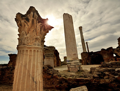 But a century later, Julius Caesar proposed resurrecting Carthage.  By 29 BC, at the direction of his successor Augustus, new temples, libraries, and hundreds of housing complexes were rising from the ashes of the old Punic city.