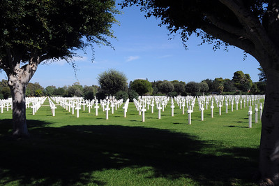 In a green oasis-like setting, 2,841 American soldiers are buried.  Most lost their lives in 1942 and 1943 as Allied forces fought their way across Morocco, Algeria, and Tunisia on their way to driving the Nazis out of North Africa.