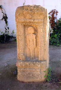 "The headstone of a child grave.  Some scholars believe that the Romans concocted the story of child sacrifice to justify their total destruction of the ""evil"" city."
