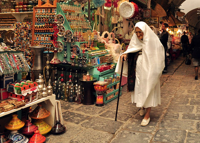 When you enter the souk, centuries seem to slip away.