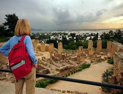 Today the ancient ruins of Carthage are a suburb of Tunis, scattered among an affluent neighborhood overlooking the Gulf of Tunis.