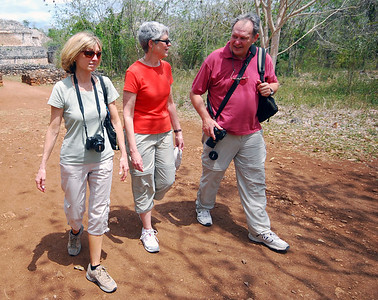 We exited the site along an old stone roadway, now crumbling into the clay.  This was once a sacbe, an ancient Maya road.  We were walking the same pathway the ancient Maya had walked more than a thousand years ago.