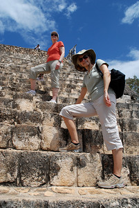And where there is a soaring Mayan temple, there is also the irresistable urge to climb.