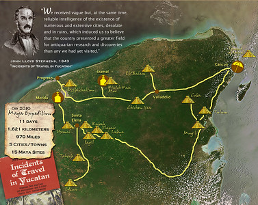 """Our """"expedition"""" would take us across the full breadth of the Yucatan peninsula -- nearly 1,000 miles -- during which we would see the ruins of 15 ancient Maya cities."""
