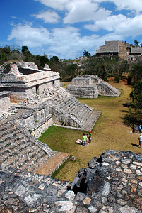 """Our first stop was Ek'Balam -- the name means """"Black Jaguar"""" in Mayan -- an ancient city only two hours or so from Cancun, but rarely visited by tourists.   This site dates to the Late Classic period, roughly 600 to 800 AD when the Mayan civilization flourished."""