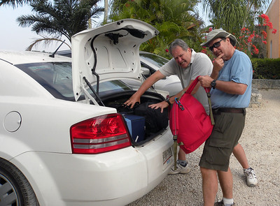 Admittedly we shared none of the hardships encountered by Messrs. Stephens and Catherwood -- no inpenetrable jungles, no disease-bearing insects, no political revolutions.  Our only real difficulty came in trying to squeeze our suitcases into our rental car's very confined trunk space.