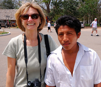 """Before leaving Ek'Balam, We should mention one of the """"tourist services"""" offered by the young entrepreneurs at many of these sites.  This young hombre named Izamel offered to """"wash"""" our car while we were inside the ruins.  He was really saying he would """"watch"""" our car.  Jeanne paid him 50 pesos (about $4 US dollars), and sure enough, he - and the car - were still there when we returned."""