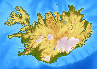 Iceland has about the same land area as the state of Kentucky, just under 40,000 square miles.  Our brief visit was concentrated in the southwestern region of the island.