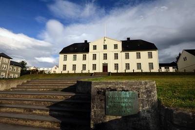 "The Menntaskólinn í Reykjavík was the first formal school in the country with origins dating back to 1056 when a school was established in the village of Skálholt.  In 1846 the school was moved to its current location. At the time, it was the largest building in the country.  Used initially for meetings of Iceland's parliament, it was in this building where Icelandic independence leader Jón Sigurðsson led the MPs in their famous phrase, 'Vér mótmælum allir' (""We all protest!"")."