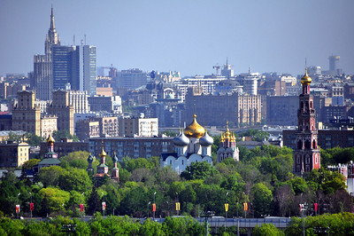 Moscow - our starting point.  From high atop Sparrow Hills, we could see the city's blend of old and new, the ancient towers and cathedrals of the Kremlin set against the backdrop of a modern skyline.