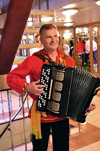 """...and by musicians playing the traditional Russian song """"Kalinka.""""  It would not be the only time that we would hear this most popular of Russian tunes."""