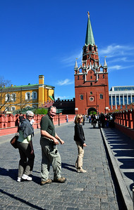 """So after walking around the exterior of the Kremlin, it was time to venture inside the """"cold red walls"""" that have so fascinated - and at times, haunted - generations of Americans."""