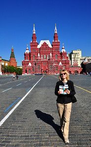 Red Square - centuries ago it was Moscow's equivalent of the Rome's ancient forum, a bustling marketplace.  In the Soviet era it was the site of grand parades of military might.  Now it is a peaceful, and relatively uncrowded, pedestrian-only expanse of benign brick pavement.