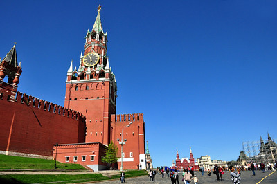 """The """"red"""" in Red Square, we learned, has nothing to do with the color of the Kremlin walls that border one side of it, or with Communism, or for that matter, with the blood spilled by the grisly executions that took place here.  Russians used to call the square """"Krasnaya Poloschad,"""" meaning """"beautiful square."""" Over time, the word """"krasnaya"""" evolved into the modern Russian word for """"red."""""""