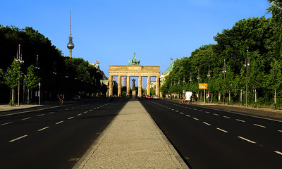 """An example of """"in your face"""" Cold War politics - After the failed worker uprising against the East German Communist government on June 17, 1953, West Berlin renamed the street leading away from the Brandenburg Gate """"the Street of 17 June."""""""