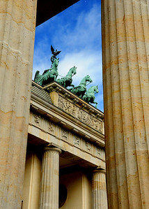Pockmarked by World War II, left isolated in no-man's land by the Cold War, the Brandenburg Gate has been restored to its original splendor.