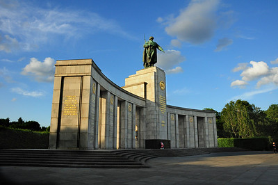 Down the street from the Brandenburg Gate is the Soviet War Memorial erected by the Soviet Union in 1945 to commemorate the 80,000 Red Army soldiers who died during the Battle of Berlin. Ironically, the memorial was built in what was to become the British sector of (western) Berlin; thus after the Berlin wall went up in 1961, the Soviet monument had to be protected by British soldiers.