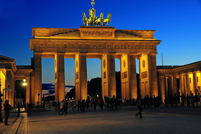 ...brilliant at night, the Brandenburg Gate today symbolizes the reconciliation of East and West..