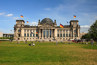 In 1933 the Reichstag was gutted by fire.  Hitler called it arson and blamed the Communists.  The fire would become his excuse for ridding the government of Communists and ultimately taking over as dictator.  Ironically, it was also here that Hitler's 3rd Reich ended; in May 1945 the Nazis fought their last major battle on its doorstep.