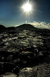 The legacy of the islands' violent, volcanic birth and continuing growth is still evident in the black swirls of hardened lava.