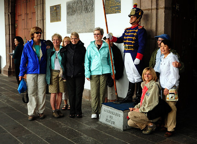 Nevertheless, the women in our group were compelled to pose around these humorless guards.