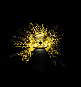 ...and legend says, stripped it of its gold and hid the treasure somewhere in the Andean mountains.  (The Inca gold sun mask is only one of the treasures on display at the Museo del Banco Central.)