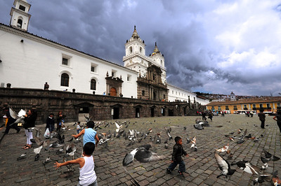 Today children play amid the pigeons in a courtyard where once the Inca's children played among golden statues.
