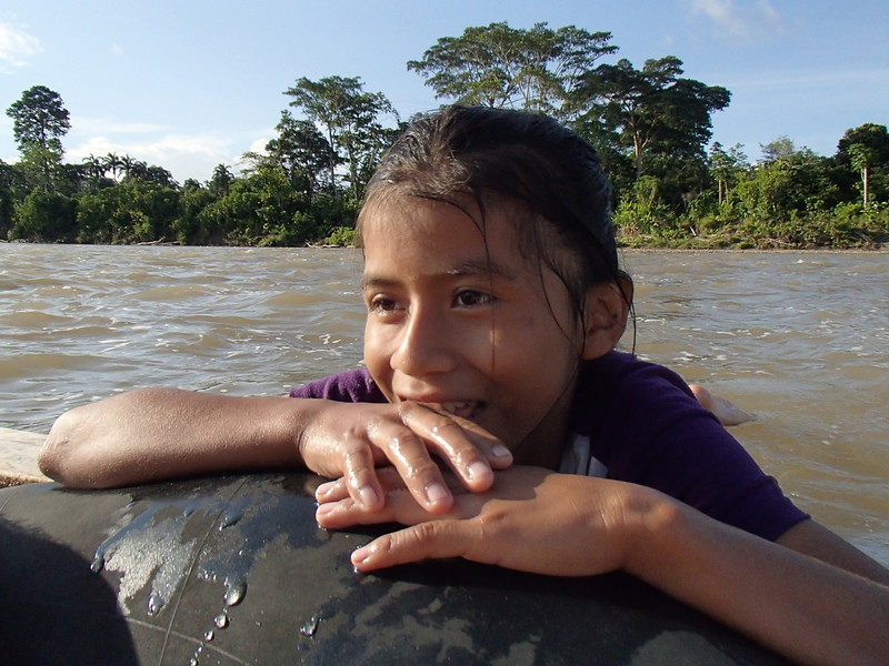 ...informing us that she was 11 years old and lived in a village just down river from our lodge.