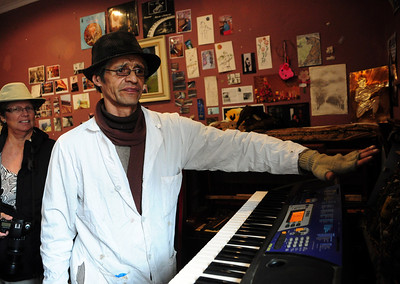 Huberto is an accomplished musician himself.  But he has a different musical passion -- bringing old pianos and organs back to life.