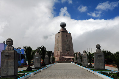 Along the way, the scientists – for the first time – marked the path of the equator, and two centuries later, a grand monument was built along that line.