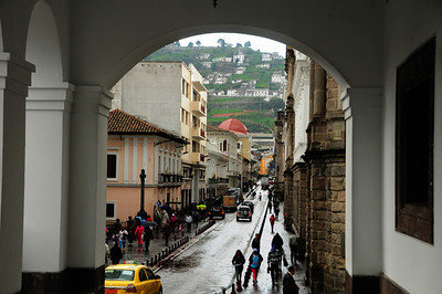 Today, Quito's Old Town is a bustling maze of narrow streets, lively plazas, and restored colonial architecture.