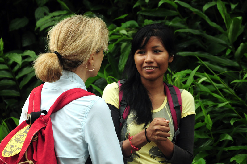 During our stay in Amazonia we met a young woman – Dalia.  23 years old.