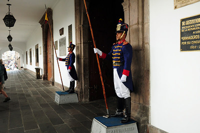 ...the doorways to the official chambers are marked by very official – and humorless – ceremonial guards...
