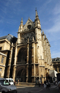 """Sainte Chapelle is Paris' """"other"""" soaring medieval cathedral, often overshadowed by its grand neighbor Notre Dame."""