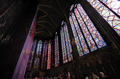 More stained glass than stone, Sainte Chapelle was erected in 1248 by Louis IX.
