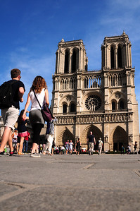 Today, where that temple stands, rises one of the world's great gothic masterpieces...the magnificent Cathedral of Notre Dame.