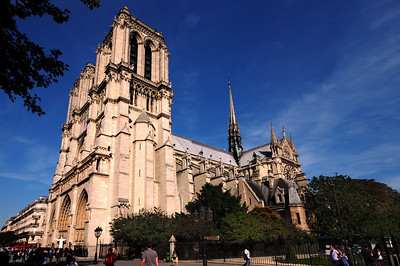 Notre Dame was the first cathedral built on a monumental scale and became the prototype for future cathedrals in France.