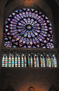 Notre Dame's stunning South Rose Window was a gift from the King Louis IX in 1260, ten years before he was to die in Carthage (in today's Tunisia) in a failed crusade to recapture the Holy Land.