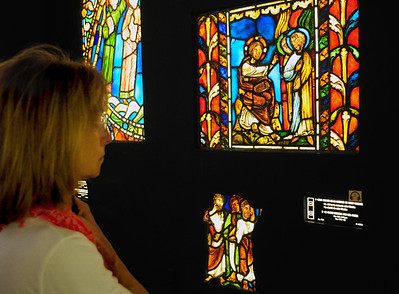 The museum also houses some of the original medieval stained glass from our next stop...Sainte Chapelle.