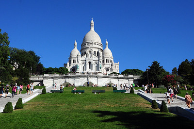 """Paris is full of architectural gems.  But there are a few structures that the Parisians detested...at least at first.  This is one of them - the Basilica du Sacre Cour (or """"Sacred Heart"""")."""