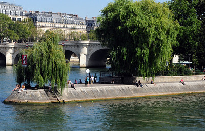 "Today, this small island in the middle of the Seine is called the Ile de la Cite, the ""island of the city."""