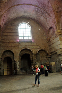 Not much remains of the Roman era.  Here in the ruins of a ancient  bathhouse – now converted to a museum – are the oldest known artifacts of the Roman occupation...