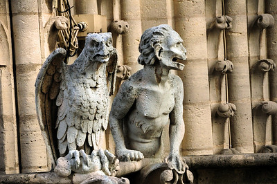 In the 12th through 14th centuries, however, placing these stone carvings on a church's rooftop was thought to ward off evil spirits.